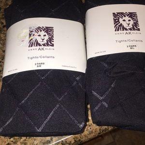 Anne Klein women's black 2 pairs tights /Collants